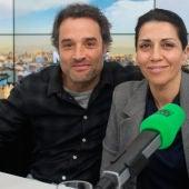 Daniel Guzmán y Alicia Borrachero en los estudios de Onda Cero
