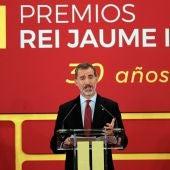 El Rey Felipe VI durante una acto en Valencia
