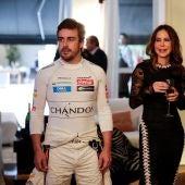 Fernando Alonso, en un acto promocional en Sao Paulo