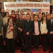 Los trabajadores de Coopbox Alcalá acuden al pleno