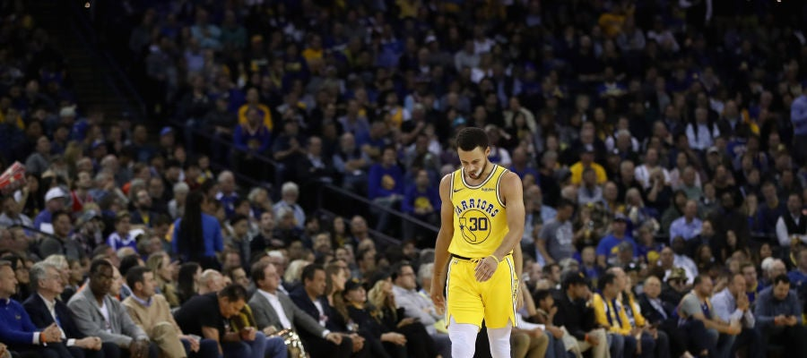 Stephen Curry, en el duelo ante los Bucks