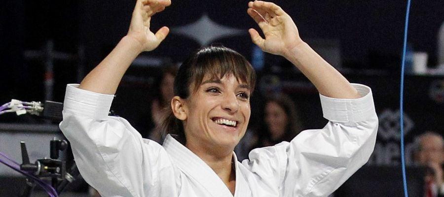 La karateca española Sandra Sánchez
