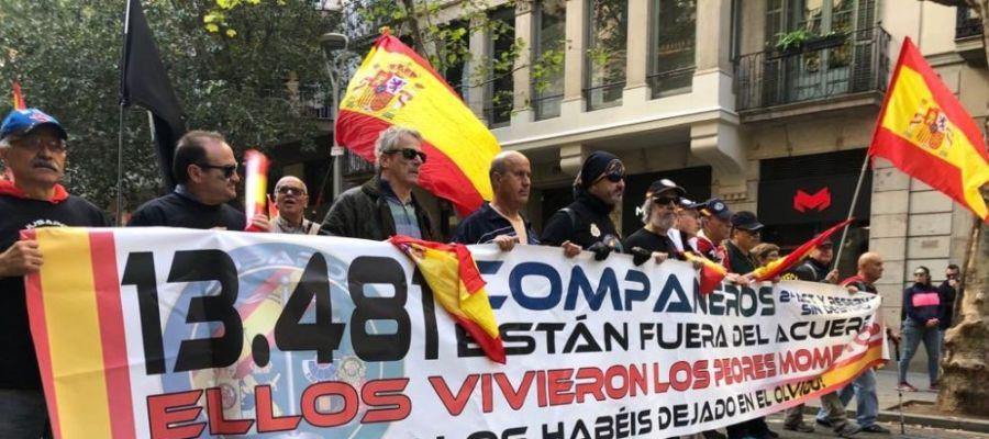 Noticias Fin de Semana (10-11-2018) Jusapol se vuelve a manifestar en Barcelona para exigir al Gobierno la equiparación salarial