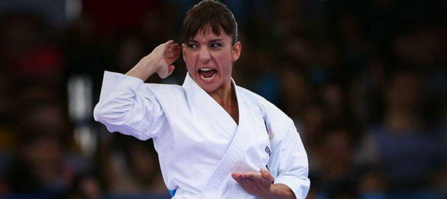 La karateca Sandra Sánchez.