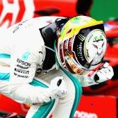 Lewis Hamilton celebra una victoria
