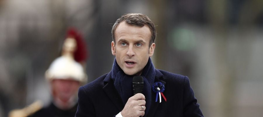 Emmanuel Macron en el centenario del Armisticio