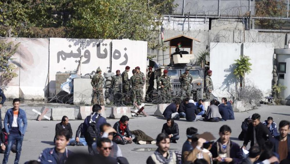Manifestación en Kabul (Afganistán)