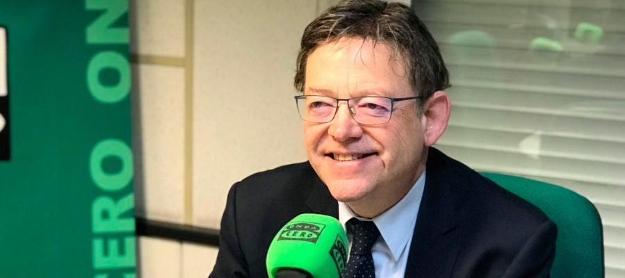 Ximo Puig durante una entrevista en Onda Cero.
