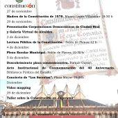 Programa de actividades para conmemorar el 40 aniversario de la Constitución