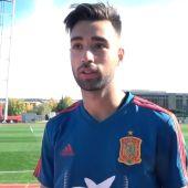 Brais Méndez con la Selección española de fútbol