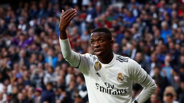 Vinicius, durante un partido con el Real Madrid