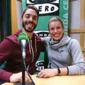 Stefano Peschiulli y Belén Lopez de Pilates León