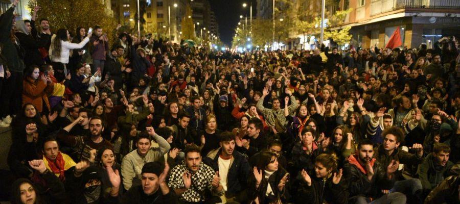Manifestación antifascista en Granada