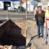 Restos de la fosa de cimentación de la muralla de C.Real