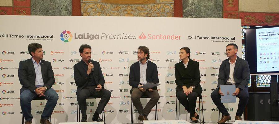 De la Morena presenta el acuerdo de su Fundación con LaLiga y el Cabildo de Tenerife sobre el XXIII Torneo Internacional LaLiga Promises