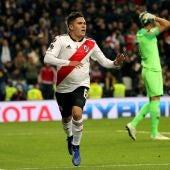 Quintero celebra su gol contra Boca Juniors