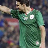 Aduriz celebra un gol de la Euskal Selekzioa a Catauña