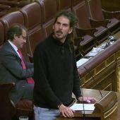 El diputado por Santa Cruz de Tenerife de Podemos, Alberto Rodríguez