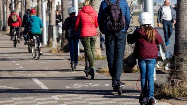 Usuarios de patinetes eléctricos