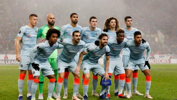 El Chelsea en su partido de Europa League contra el Mol Vidi