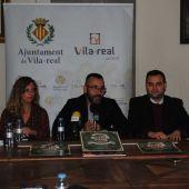 L´alcalde José Benlloch junt amb els regidors Gemma Gil, Xavi Ochando i el president d´UCOVI Paco Arrufat.