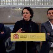 Magdalena Valerio durante la rueda de prensa con los responsables de las organizaciones de autónomos para presentar el acuerdo alcanzado