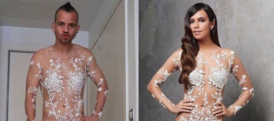 Imagen de Cristina Pedroche y David Muñoz con el vestido de las Campanadas