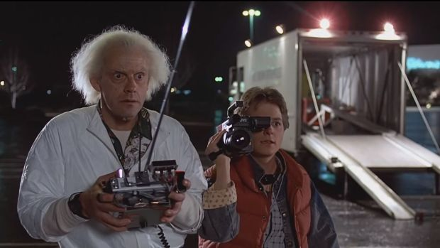 Christopher Lloyd y Michael J. Fox en 'Regreso al Futuro'