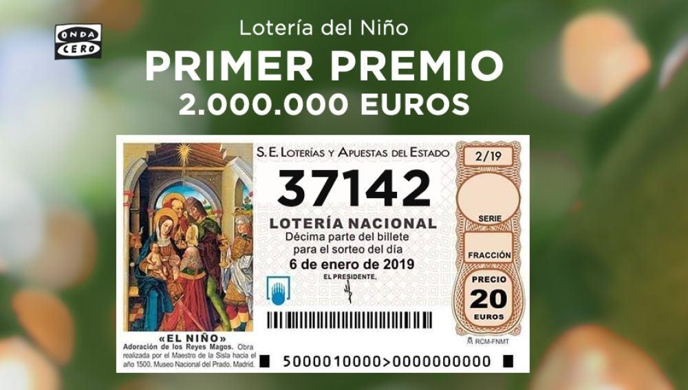 Primer premio Lotería del Niño