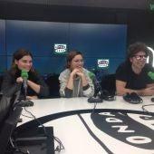 Pablo Ibáñez con las hermanas Tabar Taibo Palomares y Janira Taibo Palomares