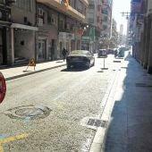 Las obras en la calle Alfonso XII de Elche han comenzado