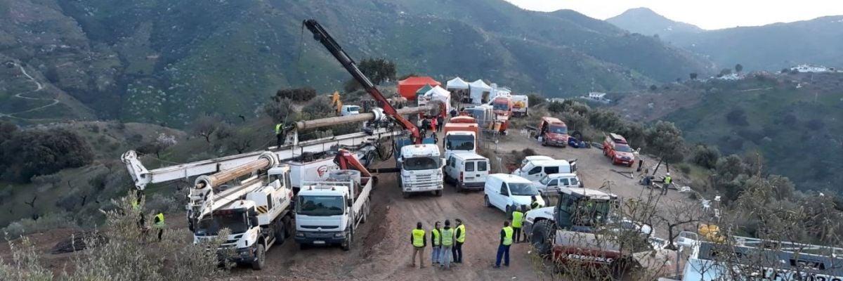 La excavación del túnel horizontal para llegar a Julen podría empezar esta noche
