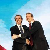 José María Aznar y Pablo Casado