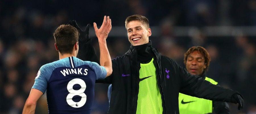 Winks, tras marcar un gol con el Tottenham
