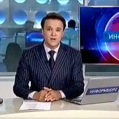 Presentador de las noticias en Kazajistán