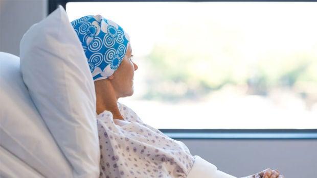 Imagen de una enferma de cáncer (Archivo)
