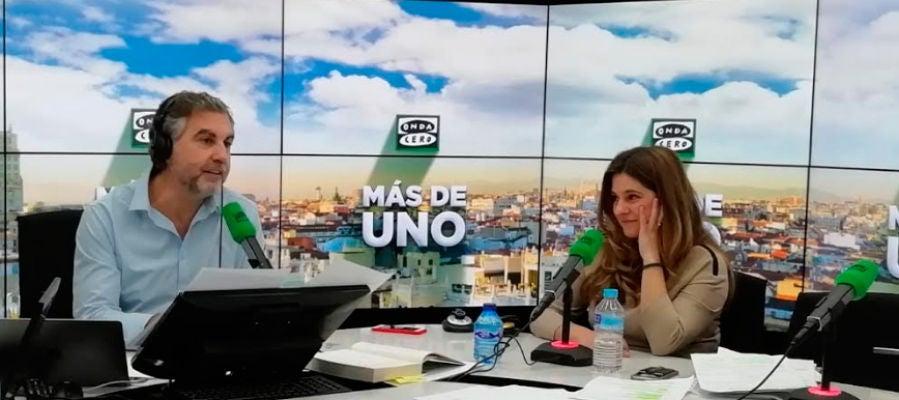 Estela Baz durante su entrevista con Carlos Alsina en Más de uno