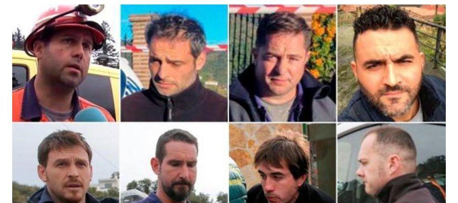 Los ocho mineros de Totalán