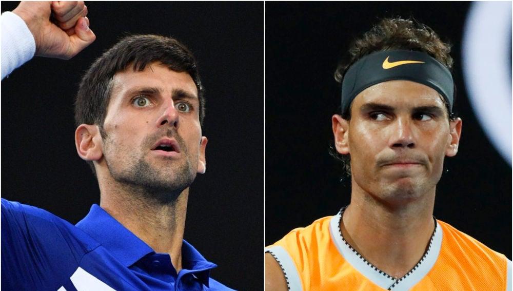 Djokovic y Nadal en el Open de Australia