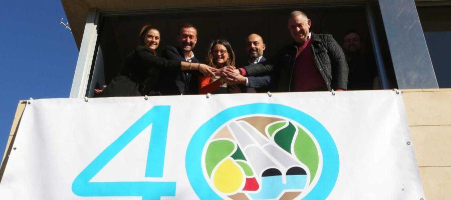 Pancarta del aniversario del trasvase Tajo-Segura en Riegos de Levante