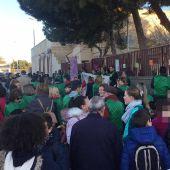 Concentración en el colegio La Paz de Torrellano