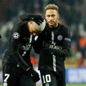 Neymar y Mbappe en un partido del PSG