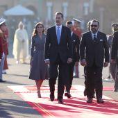 Los Reyes llegan a Rabat.