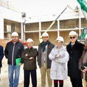 José Manuel Caballero ha visitado las obras del Pabellón Ferial