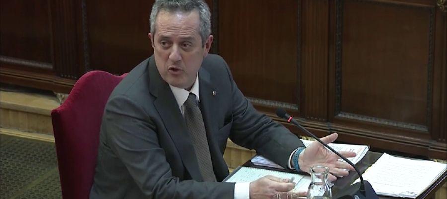 Joaquim Forn, durante su declaración en el juicio del 'procés'.