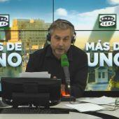 Carlos Alsina durante su Monólogo en Más de uno