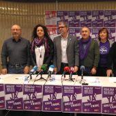 El secretario general de CCOO, Unai Sordo, y su homólogo en UGT, Pepe Álvarez