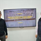 Armando Navalón, concejal de Patrimonio en Elda, y Juan Carlos Márquez, arqueológico municipal