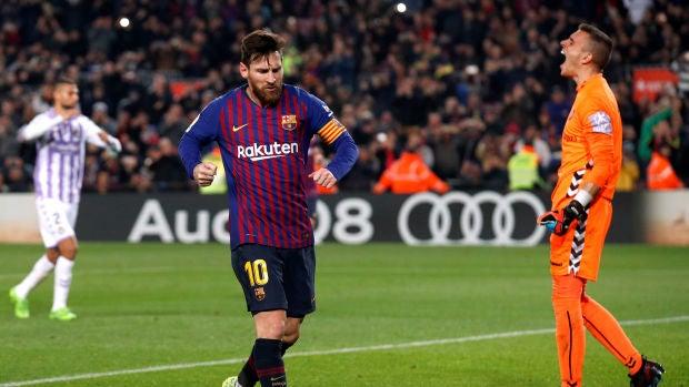 El Barça mantiene su ventaja como líder gracias a un gol de Messi ante el Valladolid