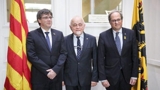 Puigdemont y Torra arremeten en Bruselas contra la UE por no respaldarles en el desafío independentista